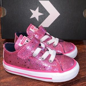 Converse All Star Infant Pink Shoes Star Moon New